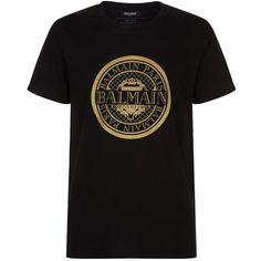 3ccaef05bc804e Balmain Coin Logo T-Shirt ( 250) ❤ liked on Polyvore featuring men s  fashion