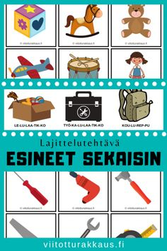 Esineet sekaisin - Viitottu Rakkaus Joko, Preschool, Language, Teaching, Comics, Inspiration, Peda, Biblical Inspiration, Comic Book