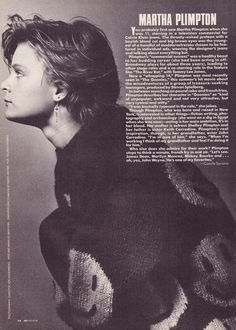 Martha Plimpton Shot by Christof Von Hohenberg For Infashion 1985 Martha Plimpton, 90s Stuff, River Phoenix, Attractive People, Fan Girl, Theater, Pop Culture, Celebs, Actresses