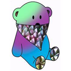 rainbow bear & pyramid bandana
