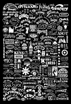 Self Initiated poster based on soul 45rpm logos. 13×19 white on black. Digitally printed on matte paper. Check it out here:  www.etsy.com/listing/90681632/45rpm-record-poster