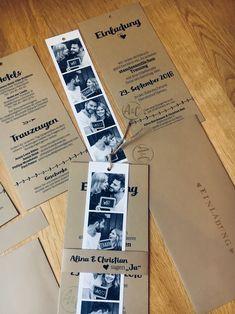 Hochzeits Einladung Fotostreifen Vintage