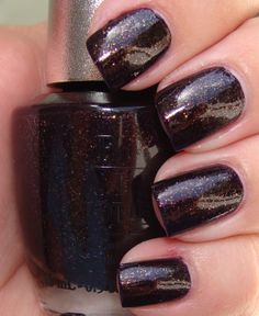 OPI DS; Mystery I am going to buy it tomorrow. <3 Dark purple with gold flakes. YES.