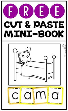 FREE cut & paste mini-books for CVC words and syllables in English & Spanish!