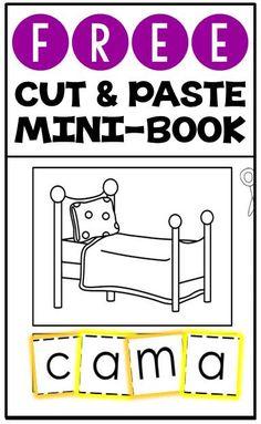 FREE cut & paste mini-book in Spanish for beginner readers!