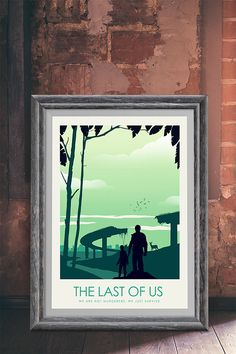The Last of Us Game Art Poster Print  Travel Poster  Video