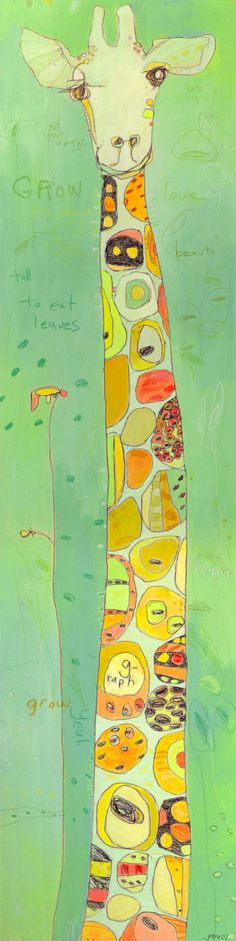jennifer mercede -girafe print on canvas