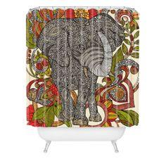 Valentina Ramos Bo The Elephant Shower Curtain | DENY Designs Home Accessories