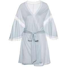 I Do Robe ($83) ❤ liked on Polyvore featuring intimates, robes, white bridal robe, wedding robes, white wedding lingerie, sexy lace lingerie and sexy bridal lingerie