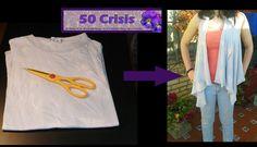Cómo hacer un chalequillo con una vieja camiseta. Vest from a T-Shirt (e...