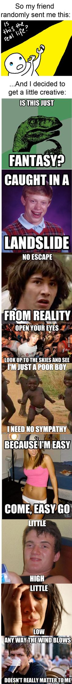 funny Bohemian Rhapsody..with memes lol