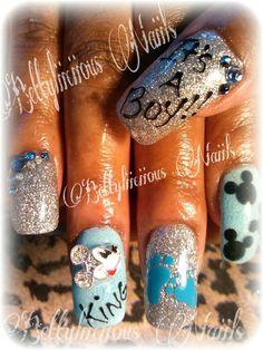 Bettylicious Nails baby shower nails |Pinned from PinTo for iPad| Baby Shower Nails, Mani Pedi, Nail Artist, Nails Inspiration, How To Do Nails, Nail Ideas, Babyshower, Nail Art Designs, Shower Ideas