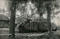 A German Panzer IV ausf.H with a wild camo design. From the 2nd Panzer Division. France