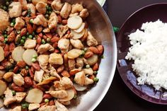 Almond Chicken -- Chinese at Home. This is a quick meal to make.