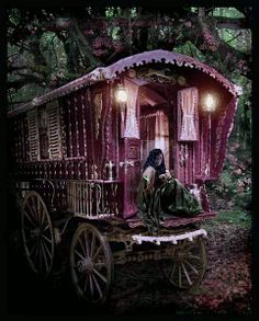 I used to dream (daydream) of being a gypsy and wondering what it would be like to travel around and wear lots of drippy, hanging, fabrics and necklaces.