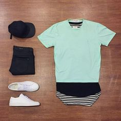 Mint outfit for summer beach look #mensfashion