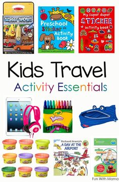 Are you going on a family vacation soon and trying to figure out some ideas and things that the kids can do so that they wont get bored? You need to create a DIY kids travel kit. This packing list contains toddler and Preschool Kids Travel Activities are perfect for cars and airplane travel. via /funwithmama/