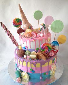 wedding cakes 2 tier 2 tier unicorn cake For order : Line : ( fast respon) Wa : 08983104342 ( slow respon) Wedding Day Wedding Planner Your Big Day Weddings Wedding Dresses Wedding bells Big Cakes, Cute Cakes, Yummy Cakes, Torta Candy, Candy Cakes, Candy Theme Cake, Candy Birthday Cakes, Birthday Cake Girls, Bolo Cake