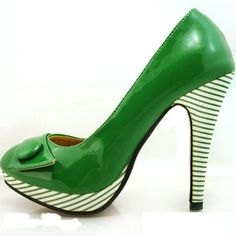 Because I think it would be neat to have a pair of green shoes.