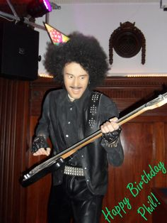 Phil Lynott celbrating his birthday in style at The National Wax Museum Plus in Dublin Happy Birthday Phil, 65th Birthday, Wax Museum, Fun Activities To Do, Dublin City, Stuff To Do, Funny Pictures, Celebrities, Style
