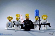 Lego Simpsons by Samsofy Lego Star Wars, Theme Star Wars, Star Trek, Lego Simpsons, Lego Stormtrooper, Starwars Lego, Legos, Disney Pixar, Aniversario Star Wars