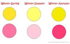 Winter seasonal coloring test colors