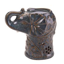 A wave of tantalizing aroma will splash across your living space with this charming ceramic elephant oil warmer. It features a floral design that will delight even when the warmer is not in use. Add the scented oil and tealight candle of your choice.