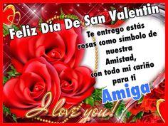 Pensamientos De La Vida Diaria : Feliz día de San Valentín Amiga Gracias por tu amistad