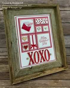 Valentines themed frame using Stampin' Up!'s Sealed With Love Bundle! #stampinup