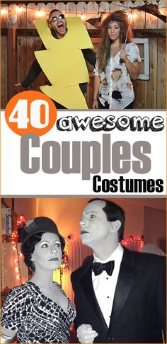 40 Couples Halloween Costumes. Costumes for pairs or groups. Creative DIY costumes for husband and wife. Freaky, fun costumes for any party.