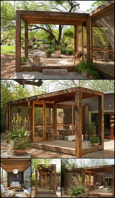This Porch With Screened And Open Area is a Great Way to Add Function And Living Value to Your Home