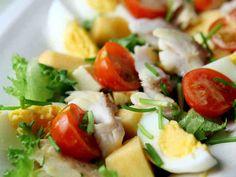 Caprese Salad, Pasta Salad, Cobb Salad, Food N, Food And Drink, My Cookbook, Salad Recipes, Potato Salad, Salads