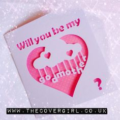 Will you be my Godmother card - papercut card - card for godmother - card for godparent -baby -christening card -christening gift -new baby by TheCoverGirlmummy on Etsy