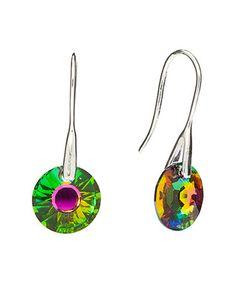 Vitrail Swarovski® Crystal Disc Drop Earrings