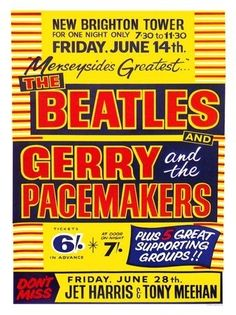 AP2680 - Beatles and Gerry and The Pacemakers (30x40cm Art Print)
