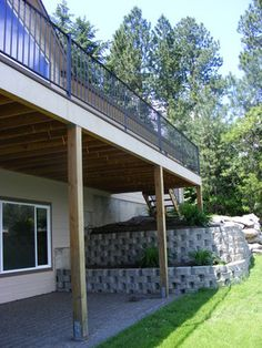 Retaining walls on pinterest retaining walls walkout Walkout basement landscaping pictures