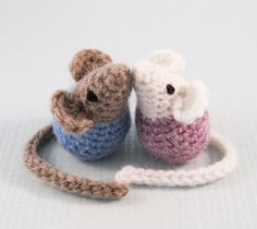 Ravelry: Little Kissing Mice Amigurumi pattern by Lucy Ravenscar