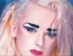 Danielle Dax, Culture Club, Boy George, Vintage Makeup, Creative Makeup, Georgia, Eye Makeup, Halloween Face Makeup, Singer