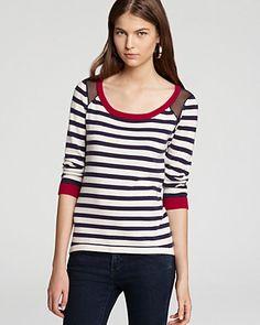 JAMISON Sweater - Gian Striped Silk Back