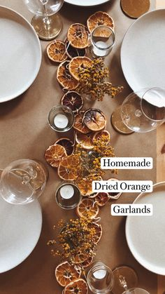 Christmas Table Settings, Fall Table Settings, Christmas Decorations, Holiday Decor, Kitchen Twine, Budget Holidays, Cocktail Garnish, Dried Oranges, Holiday Wreaths