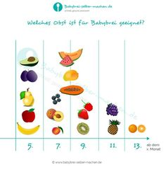 Welches Obst ist ab wann für Babybrei geeignet