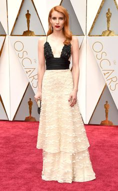 Emma Roberts from Oscars 2017: Best Dressed Women  Emma's a vision in this vintage Armani Privé beaded, two-toned number.