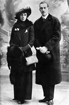 Their Highnesses Prince and Princess Aage of Denmark, Count and Countess of Rosenborg. Married: February 1, 1914