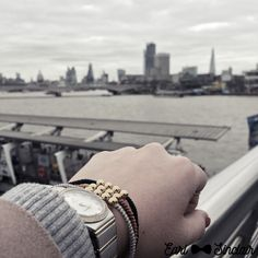 Overlooking the Thames.. all bracelets are made with precious metals and stones   @earlsinclair.co