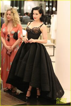 Dita Von Teese Shows Off New Lingerie Line at Bloomingdale's Launch
