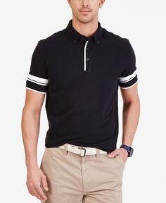 Nautica Men's Striped Sleeve Polo Shirt