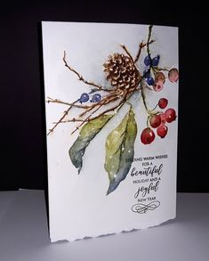 Read information on Homemade Christmas Cards Painted Christmas Cards, Watercolor Christmas Cards, Christmas Drawing, Christmas Cards To Make, Christmas Paintings, Watercolor Cards, Xmas Cards, Christmas Art, Watercolor Flowers