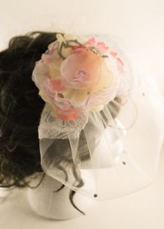 Weddings. White birdcage vail  tulle with by AnitaHiltonweddings, £25.00