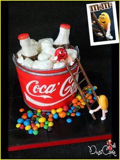 M&M cake with coke unique