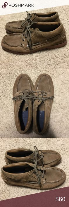 Suede Sperry Top-Sider Original Chukkas -- Size 10 Authentic, original Sperry Top-Sider Chukka boots. Tan suede in color with rubber soles, these boots will make a great addition to your closet! Super comfortable! Size 10 *ANY REASONABLE OFFER CONSIDERED* Sperry Top-Sider Shoes Chukka Boots